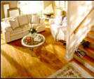 Oak floors give a room character...